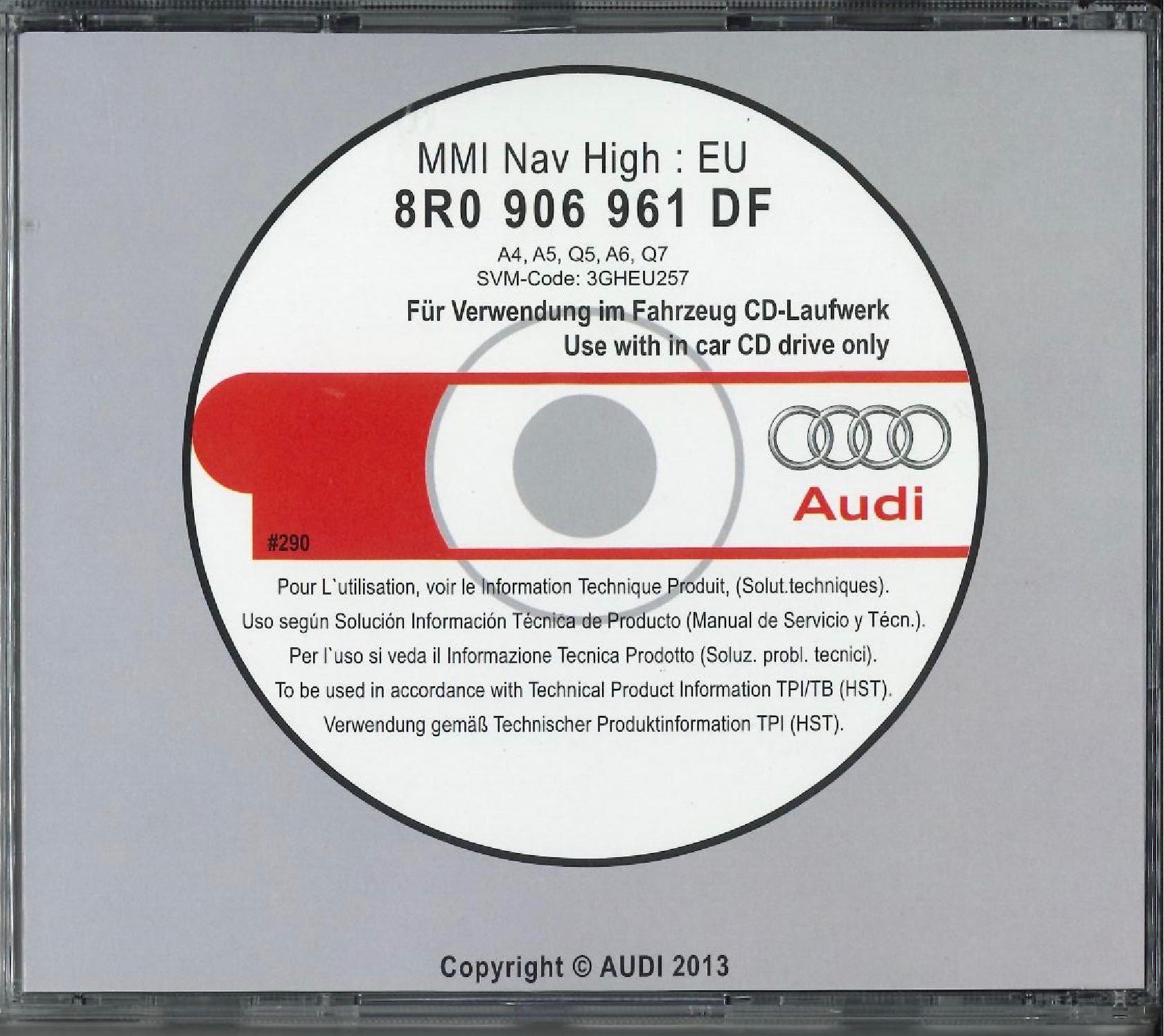 Audi MMI 3G High - 0257 Update software